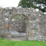 The entrance to Ardchattan Chapel