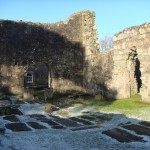 The Choir of the 15th century Chapel, McIntyre tombstone far right