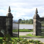 The entrance gates into the garden